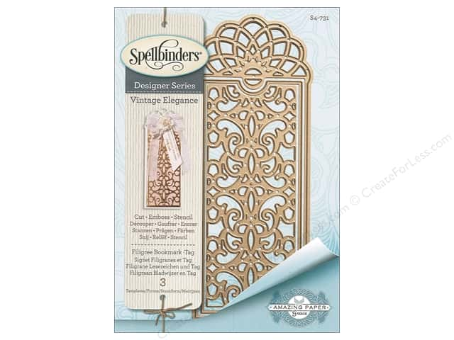 Spellbinders Die Shapeabilites Filigree Bookmark Tag
