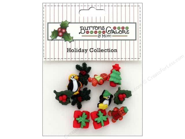 Buttons Galore Theme Button Holiday Christmas Miniatures