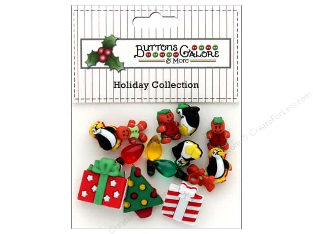 Buttons Galore Theme Button Holiday Bliss
