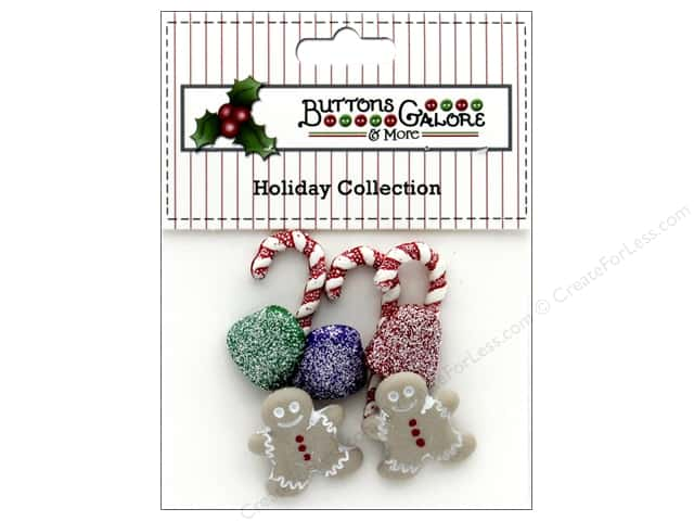 Buttons Galore Theme Button Holiday Sugarplum