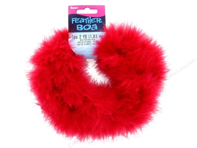 Darice Marabou Feather Boa 2 yd. Red
