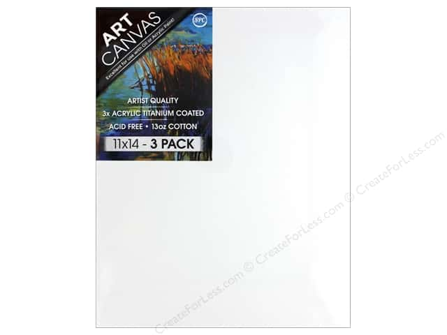 Sierra Pacific Crafts Canvas 11 in. x 14 in. x .75 in. Profile Triple Pack