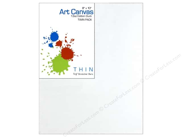 Sierra Pacific Crafts Canvas Thin 8 in. x 10 in. x 5/8 in. Primed 13 oz Twin Pack