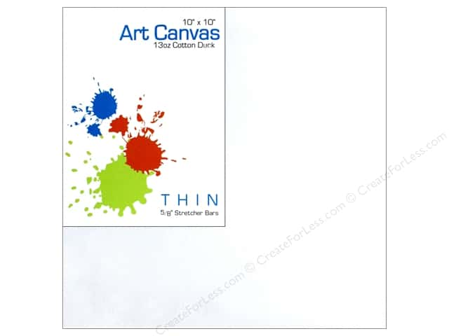 Sierra Pacific Crafts Canvas Thin 10 in. x 10 in. x 5/8 in. Primed 13 oz