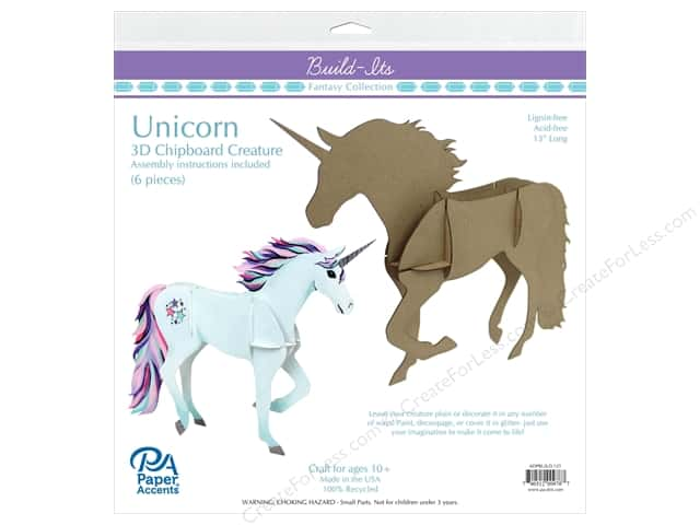 """Paper Accents Build Its Unicorn 10"""" Tall"""