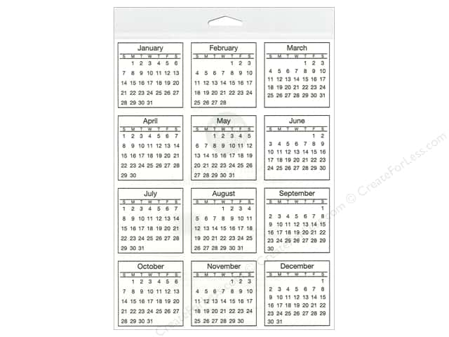 SRM Press Sticker Calendar Mini 2018 Standard