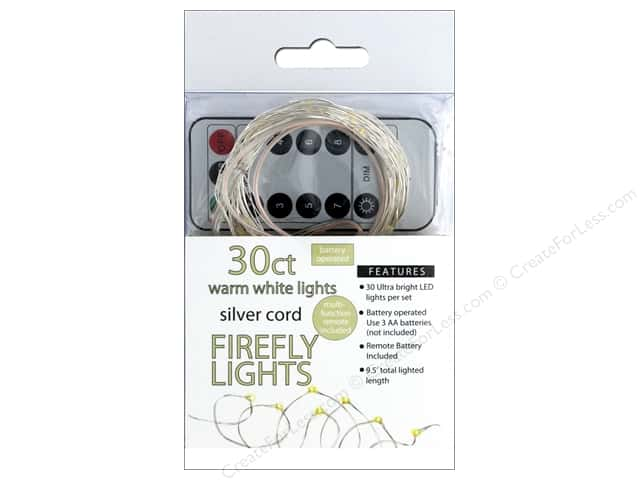 Sierra Pacific Crafts Lights Firefly LED 30ct Chasing With Remote Warm White/Silver Cord