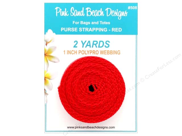 """Pink Sand Beach Accessories Purse Strapping 1""""x 2yd Red"""