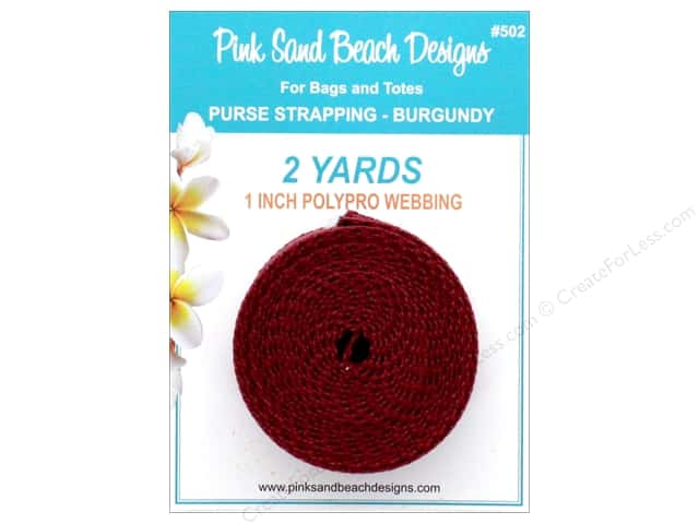 """Pink Sand Beach Accessories Purse Strapping 1""""x 2yd Burgundy"""