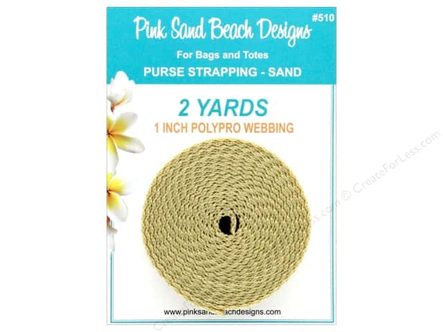 """Pink Sand Beach Accessories Purse Strapping 1""""x 2yd Sand"""