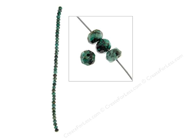John Bead Semi Precious Bead 8 in. African Turquoise 6 mm Rondelle Faceted