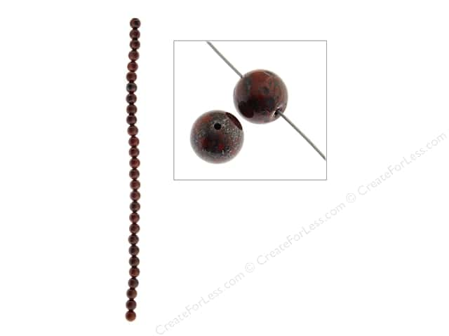 John Bead Semi Precious Bead 8 in. Breciated Jasper 6 mm Round