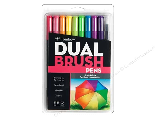 Tombow Dual Brush Pen Set Bright 10pc