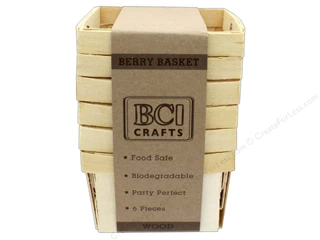 BCI Crafts Berry Baskets Wood Small 6pc
