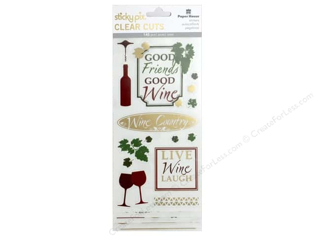 Paper House Sticker Clear Cuts Wine Country