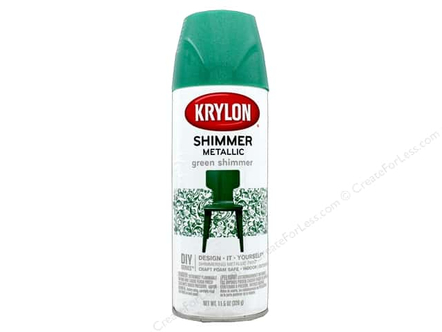 Krylon Shimmer Metallic Spray Paint 11.5 oz. Green