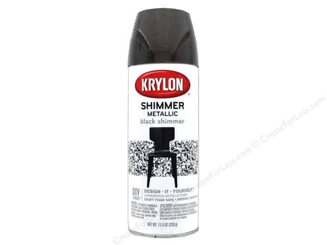 Krylon Shimmer Metallic Spray Paint 11.5 oz. Black