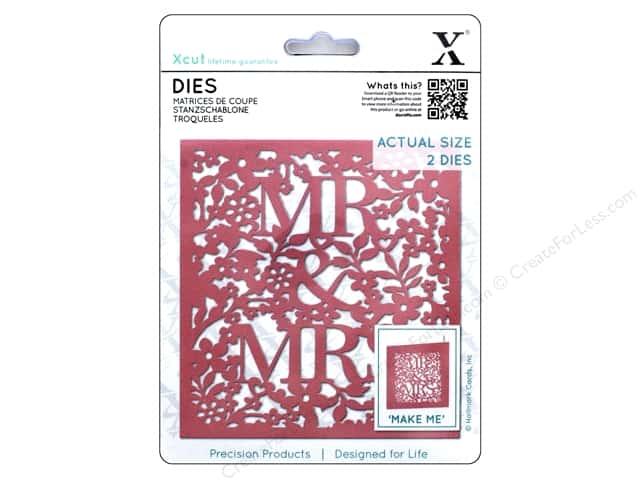 Docrafts Xcut Die Mr & Mrs 2pc