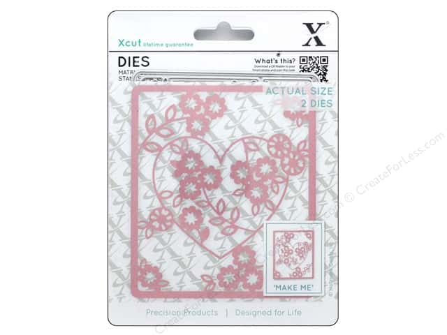 Docrafts Xcut Die Floral Heart 2pc