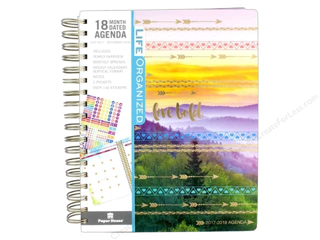 Paper House Life Organized Collection Planner 18 Month 2018 Live Bold
