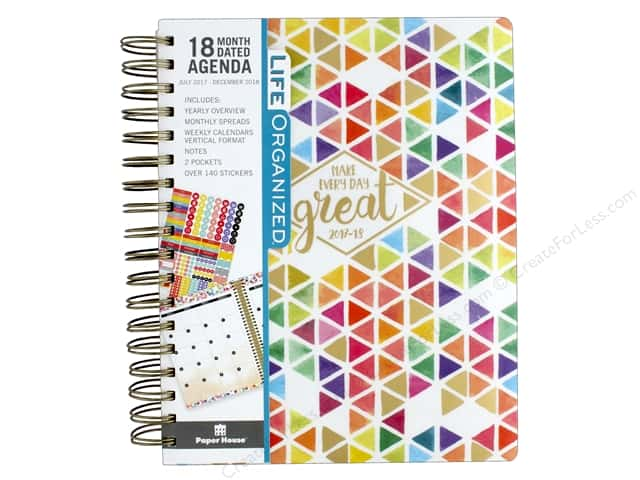 Paper House Life Organized Collection Planner 18 Month 2018 Make Every Day Great