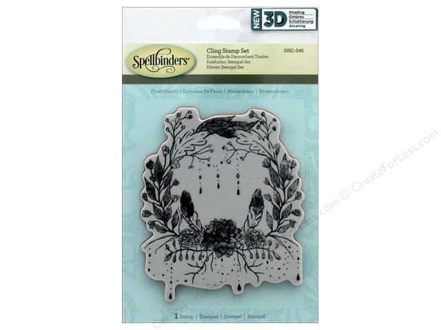 Spellbinders Stamp 3D Shading Floral Wreath
