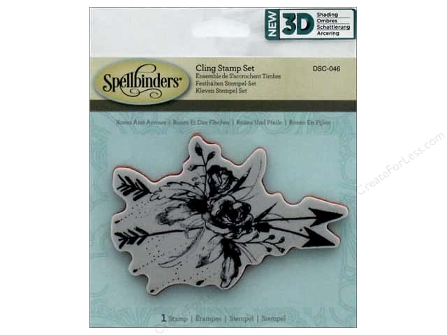 Spellbinders Stamp 3D Shading Roses & Arrows
