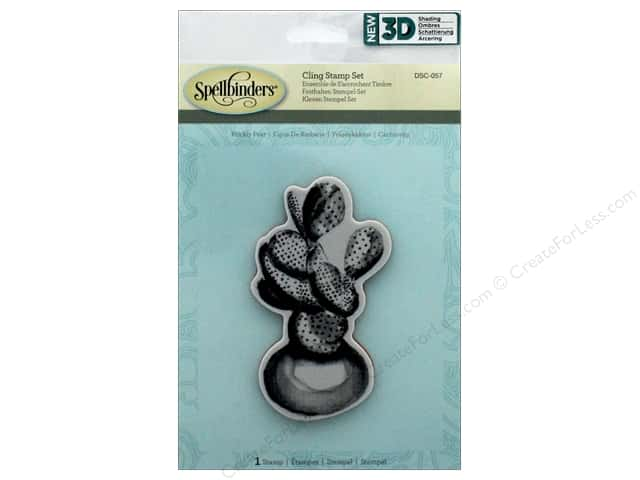 Spellbinders Stamp 3D Shading Prickly Pear