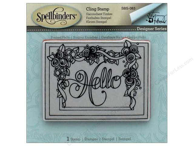 Spellbinders Stamp Framed Hello