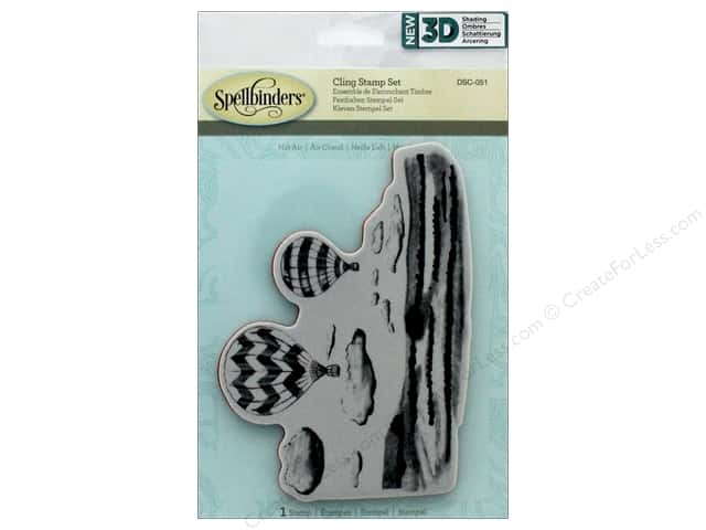 Spellbinders Stamp 3D Shading Hot Air