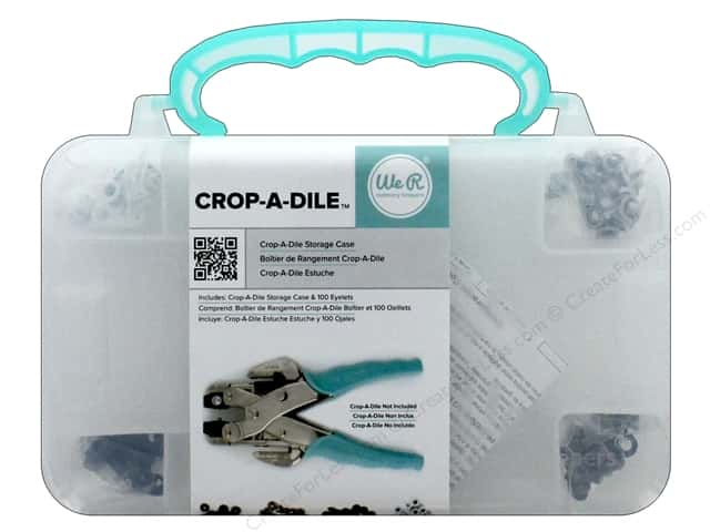 We R Memory Crop-A-Dile Case Teal With Eyelets
