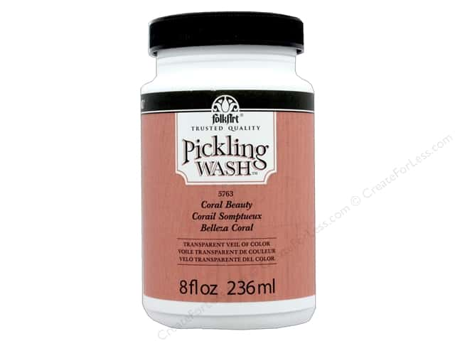 Plaid Folkart Pickling Wash 8 oz. Coral Beauty