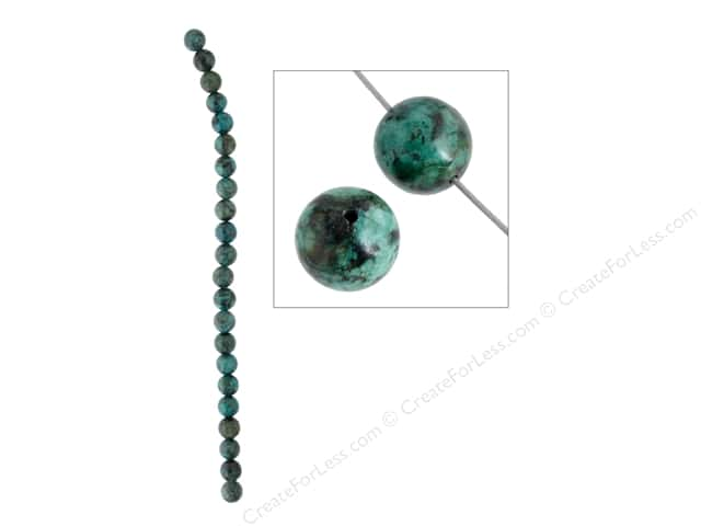 John Bead Semi Precious Bead 8 in. African Turquoise 8 mm Round