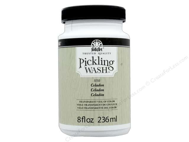 Plaid Folkart Pickling Wash 8 oz. Celadon
