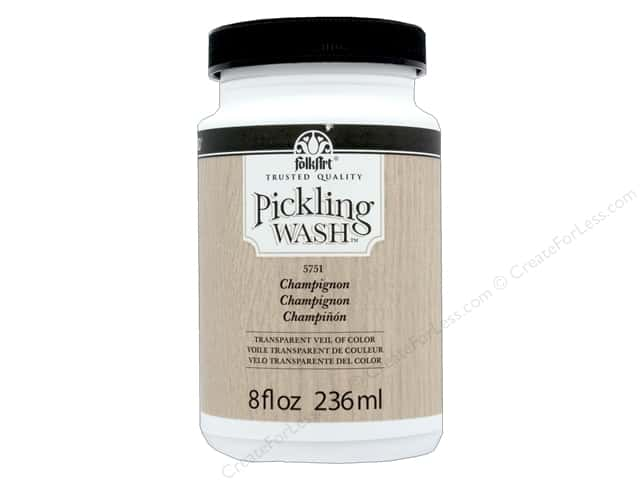 Plaid Folkart Pickling Wash 8 oz. Champignon