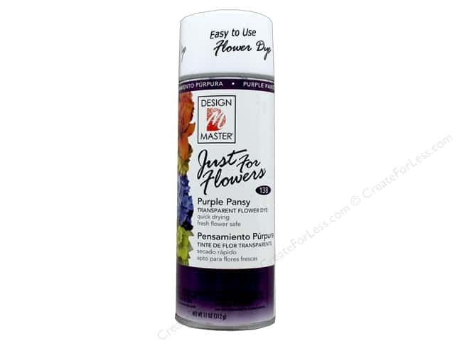 Design Master Just For Flowers Spray Dye 11 oz. #138 Purple Pansy