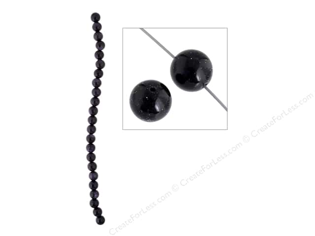 John Bead Semi Precious Bead 8 in. Blue Goldstone 10 mm Round