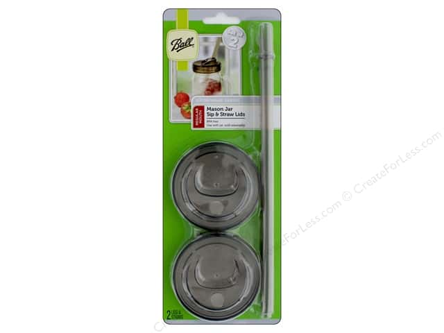 Ball Jar Sip & Straw Lid Regular Mouth Smoke Grey 2 pc
