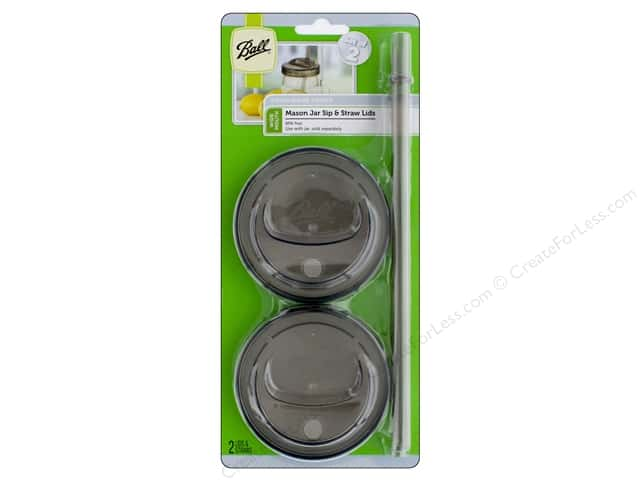 Ball Jar Sip & Straw Lid Wide Mouth Smoke Grey 2pc