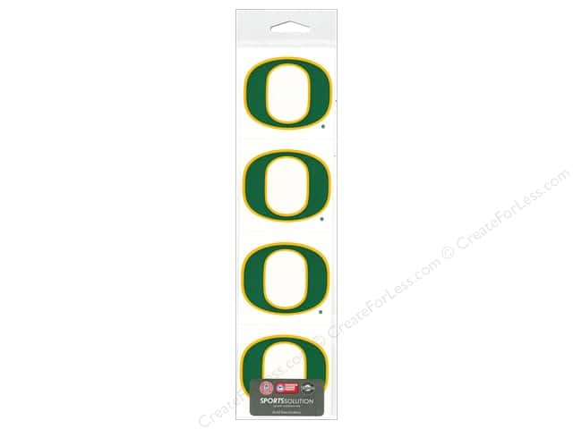 "Sports Solution Sticker Pack 2"" Oregon Green"