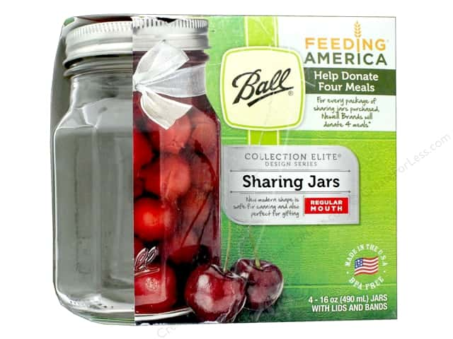 Ball Jar Pint Regular Mouth Elite Sharing 4pc