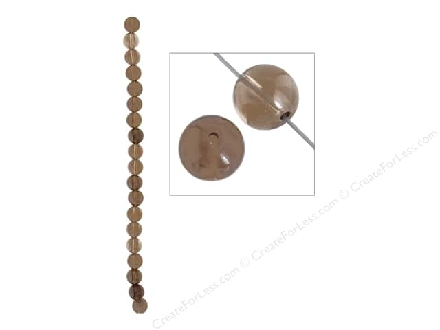 John Bead Semi Precious Bead 8 in. Smoky Quartz 10 mm Round