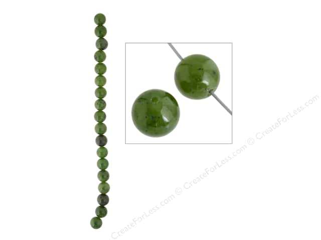 John Bead Semi Precious Bead 8 in. Jade (Canadian) 10 mm Round