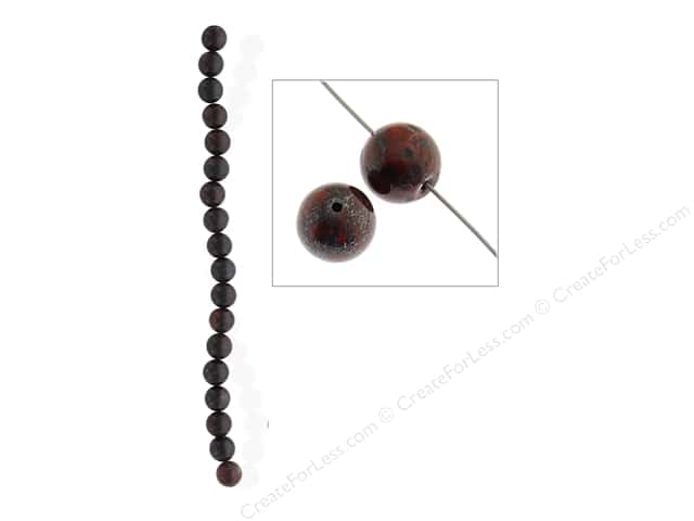 John Bead Semi Precious Bead 8 in. Breciated Jasper 10 mm Round
