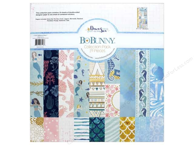 """Bo Bunny Collection Down By The Sea Collection Pack 12""""x 12"""""""