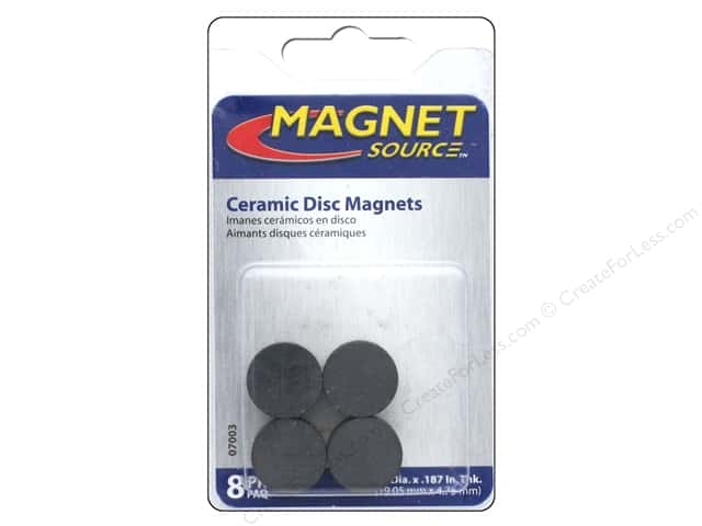 The Magnet Source Ceramic Disc Magnets 3 4 In 8 Pc