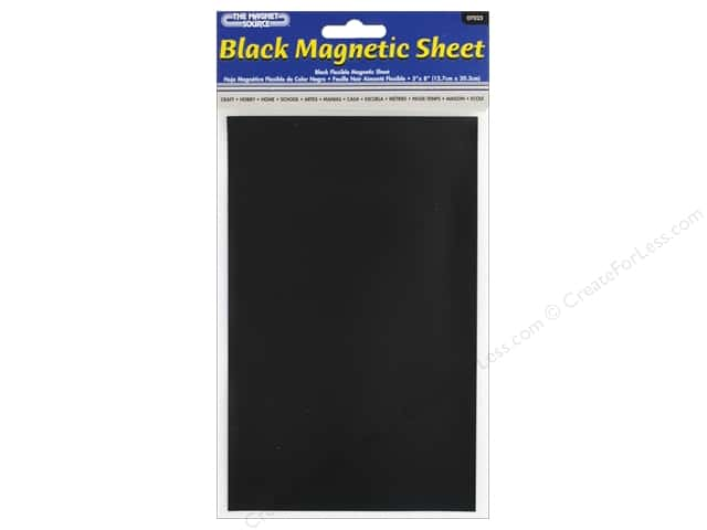 The Magnet Source Flexible Magnetic Sheeting 5 x 8 in. Black