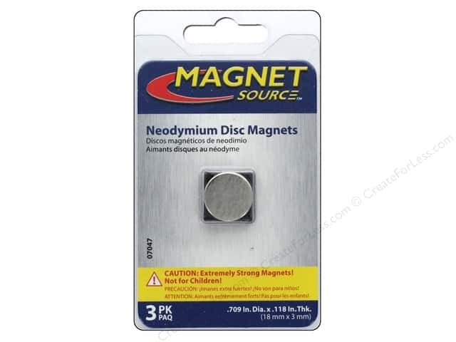 The Magnet Source Super Neodymium Magnet Discs 5/8 in. 3 pc.