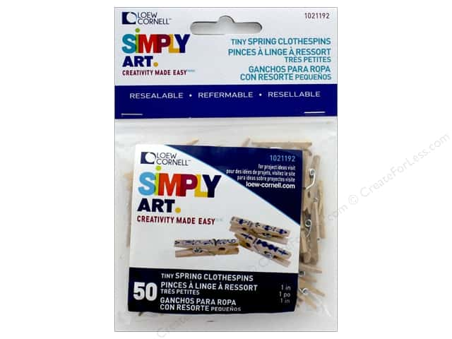 Loew Cornell Simply Art Wood Tiny Spring Clothespins 50 pc.