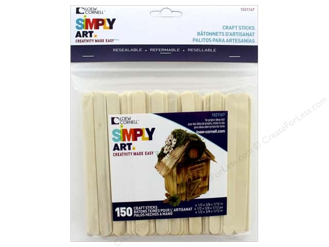 Loew Cornell Simply Art Wood Craft Sticks 150 pc.